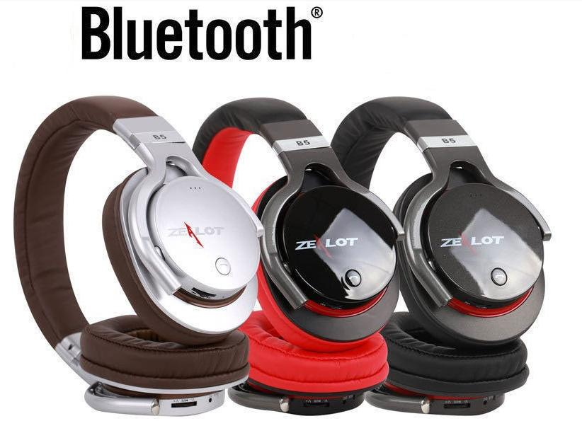 bluetooth headset Zealot B5 Wireless Bluetooth Stereo Earphone Headphones Headset With Microphone for iphone 7 xiaomi remax 2 in1 mini bluetooth 4 0 headphones usb car charger dock wireless car headset bluetooth earphone for iphone 7 6s android