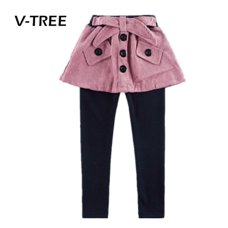 V TREE New Style Girls Legging Fashion Girls Pant Skirt 2 8 Years Kids Spring Autumn