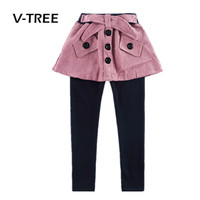 V TREE New Style Girls Legging Fashion Girls Pant Skirt 2 8 Years Kids Spring Autumn