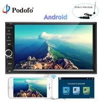 Podofo Android 7,1 автомобилей Радио 7 ''1din gps навигации WI FI Сенсорный экран автомобиля радио DAB MP5 плеер Bluetooth Зеркало Ссылка авторадио