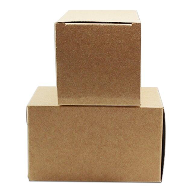 US $16.0  10*10*10 cm Faltbare Heißer Verkauf Griff Festival Geschenk  Handwerk Braunen Kraftpapier Paket Box, Party Candy Cupcake Kekse  Verpackung Box ...