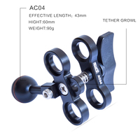SUPE Scubalamp AC04 Butterfly Clamp Underwater Scuba Diving Accessorries photography equipment ball head clip arm clip