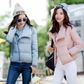 New 2017 Fashion Ladies turndown collar Slim Short Jacket Women winter Cotton Jacket Women Bomber Jacket Warm winter female Coat