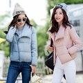 Novo 2017 Moda Feminina de abertura de cama colarinho Fino Curto Mulheres Jaqueta de inverno de Algodão Mulheres Jaqueta Bomber Jacket inverno Quente Casaco feminino