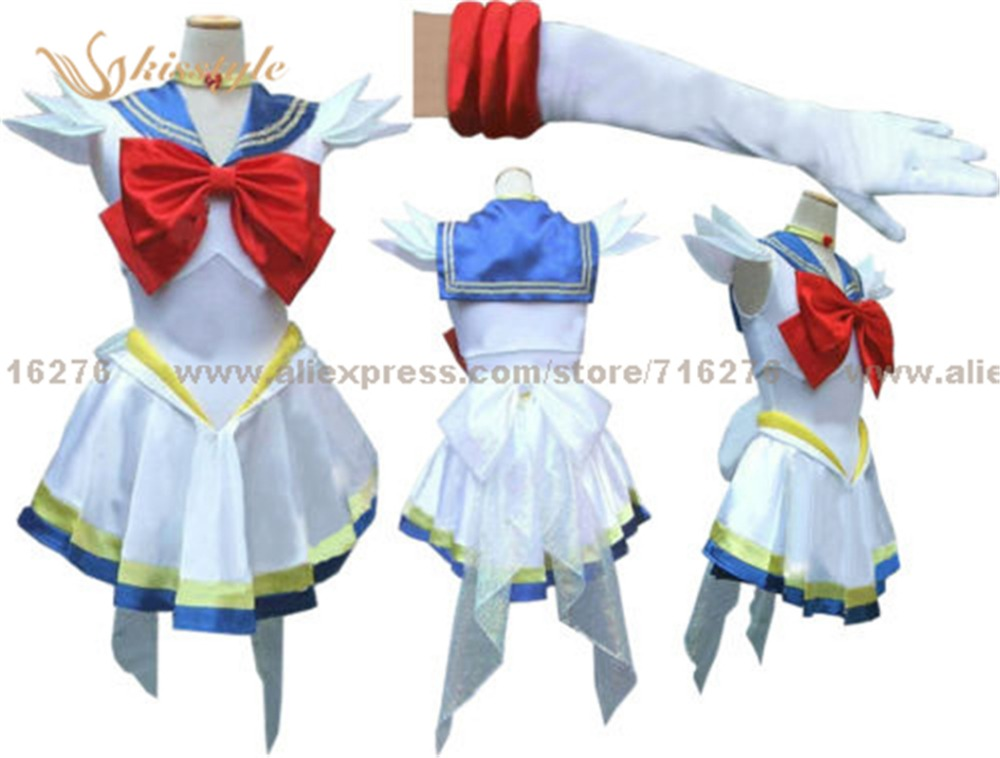 Kisstyle Fashion New Anime Pretty Soldier Super font b Sailor b font font b Moon b