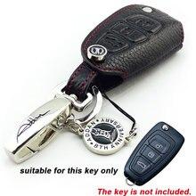 Натуральная Кожа Ключа Автомобиля Обложка брелок флип ключ защитный чехол для FORD Focus MONDEO FIESTA MAVERICK Kuga ECOSPORT АВТОАКСЕССУАРОВ