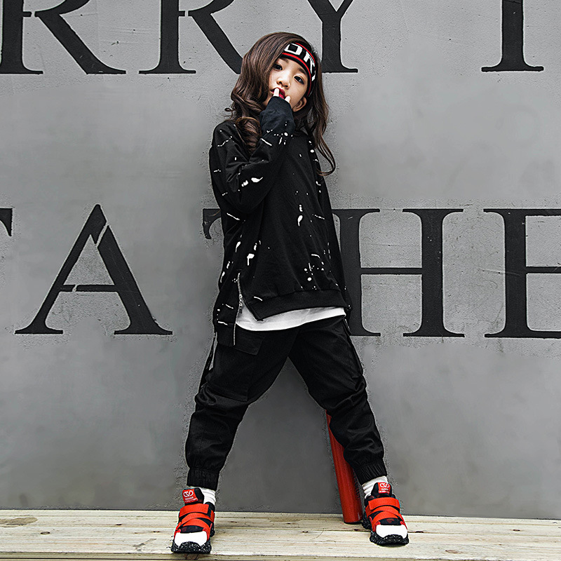 Kids Hip Hop Clothing Casual Shirt Sweatshirt Jazz Dance Costume Ballroom Dancing Clothes For Girls Boys Wear Tops Jogger Pants