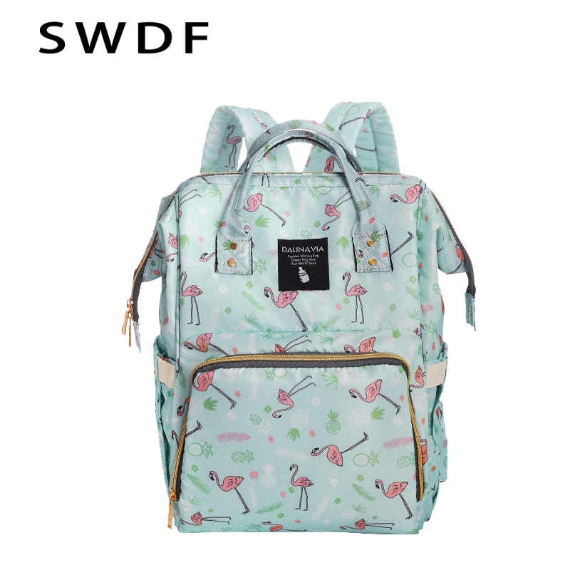 895324a4ca SWDF 2019 New Women Waterproof Backpacks Solid School Bag for Teenage Girls  High Quality PU Leather Floral Backpack Travel Bags