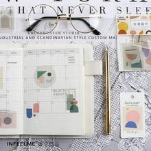 Mohamm дневник скрапбук бумажный Альбом мини деко почтовый штамп календарь милые наклейки, стружка журнал канцелярские принадлежности