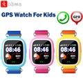 Q90 kid smart watch gps wi-fi monitor de alarme anti-perdido do bebê telefone do relógio colorido touch screen sos localizador rastreador relógio de pulso