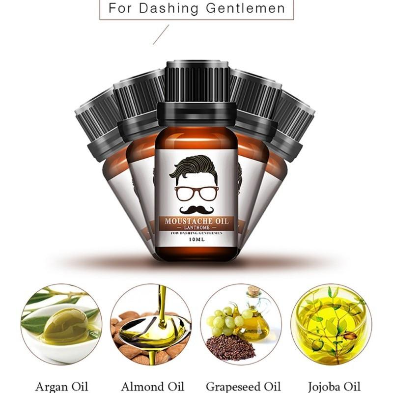 100% Natural Beard Growth Oil/Wax Set Berad Care Moisturizing Modeling Organic Beard Conditioner Styling 1