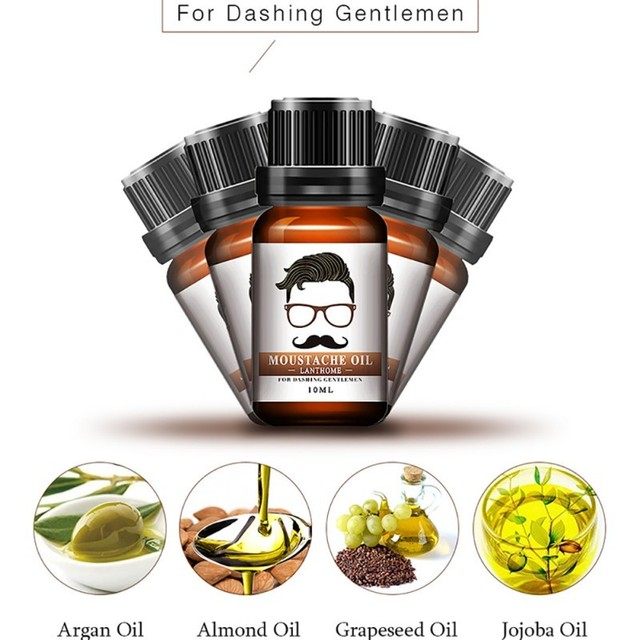 100% Natural Beard Growth Oil/Wax Set Berad Care Moisturizing Modeling Organic Beard Conditioner Styling 1