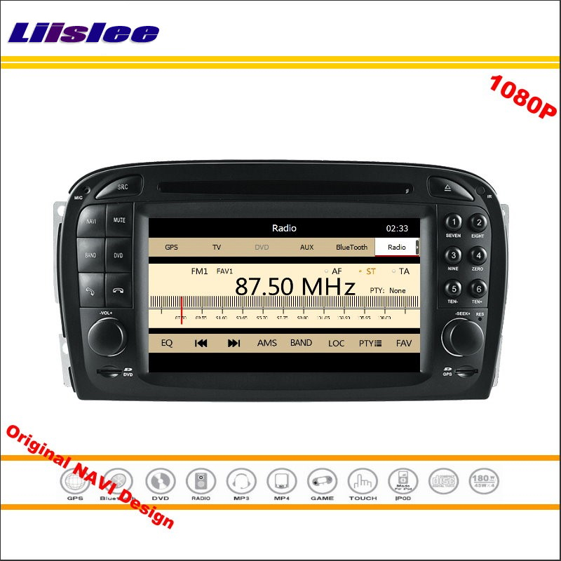 Liislee For Mercedes Benz SL R230 2001~2004 Stereo Radio CD DVD Player GPS Navigation 1080P HD Screen System Original NAV Design