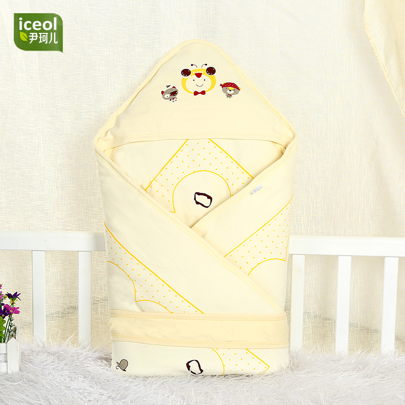 100% Cotton Newborn Blanket Swaddle Blue Liner Blanket New Four Seasons Sleeping Bag Car ...