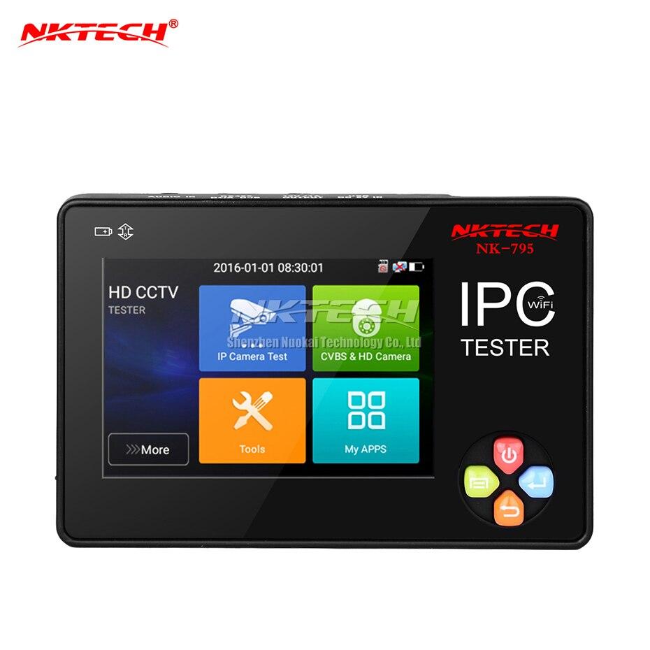 NKTECH IP caméra CCTV testeur NK-795 moniteur de sécurité analogique CVBS caméras Test WiFi 4 K 3.5