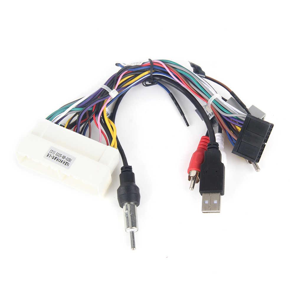 Dasaita DYX008 auto Radio estéreo Cable de alimentación arnés de cableado para KIA K3 RIO Cerato 2016 2017 enchufe de Radio de fábrica