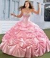2017 sexy pink red ball vestido vestidos quinceanera sweet 16 vestidos de debutante vestido longo sweet 16 vestido de 15 años QA1032
