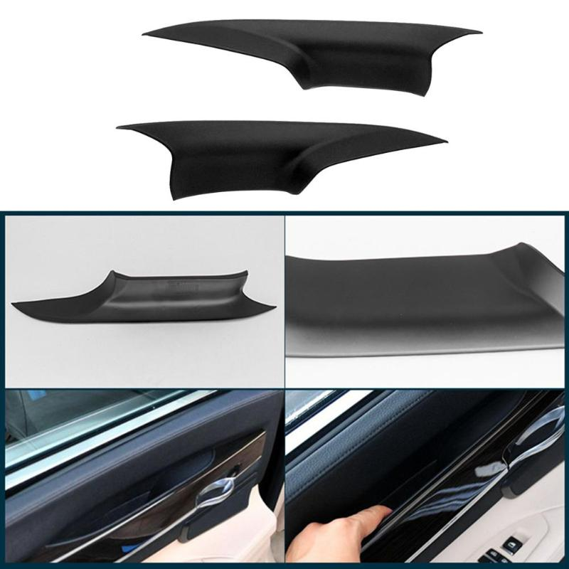 VODOOL 1Pair Car Front Door Interior Inner Handle Pull Carrier Covers Vehicle Auto Replacement Knob For BMW F01 F02 Car Styling цена