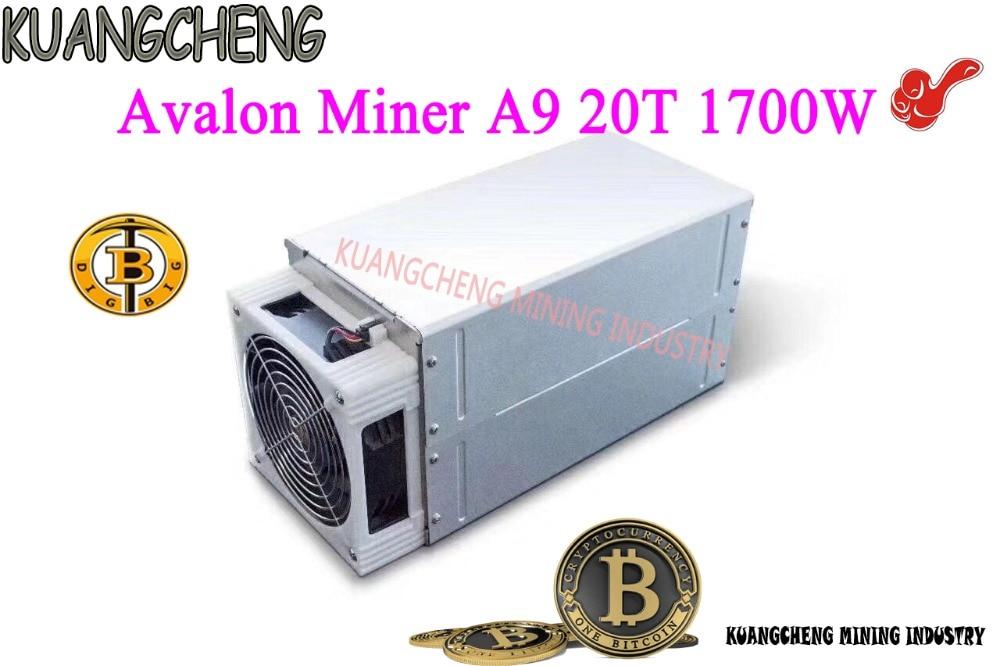 KUANGCHENG Avalon miner A9 20TH/S ASIC miner SHA256 mining BTC BCH BCC Better than ANTMINER S9i,Ebit 10 kuangcheng brand new miner avalon 841 13t sha256 asic btc bitcoin mining machine a841 13th s
