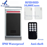 10,000 card users IP68 keypad Outdoors Waterproof Standalone Access Controller Remote control wiegand 26 output reader