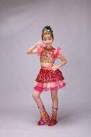 Kinder jazz tanzen kostüme jungen und mädchen pailletten modern dance neue hip-hop performance kleidung