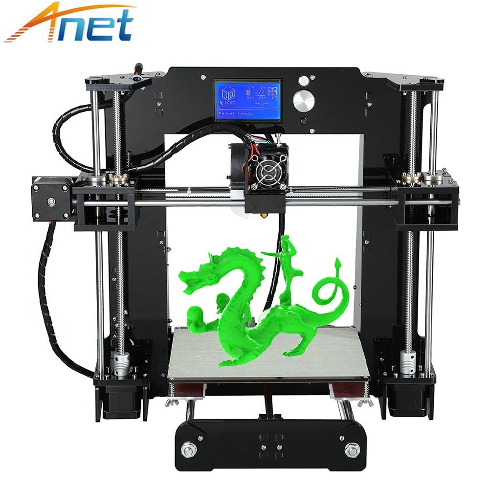 купить Anet Autolevel A6 A8 3D Printer Kit Easy Assemble High Precision Reprap i3 DIY 3D Printing Machine+ Hotbed+Filament+SD Card+LCD по цене 12137.55 рублей