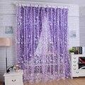 Floral Bedroom Livingroom Windows Scarf Sheer Floral Curtain Panel Voile