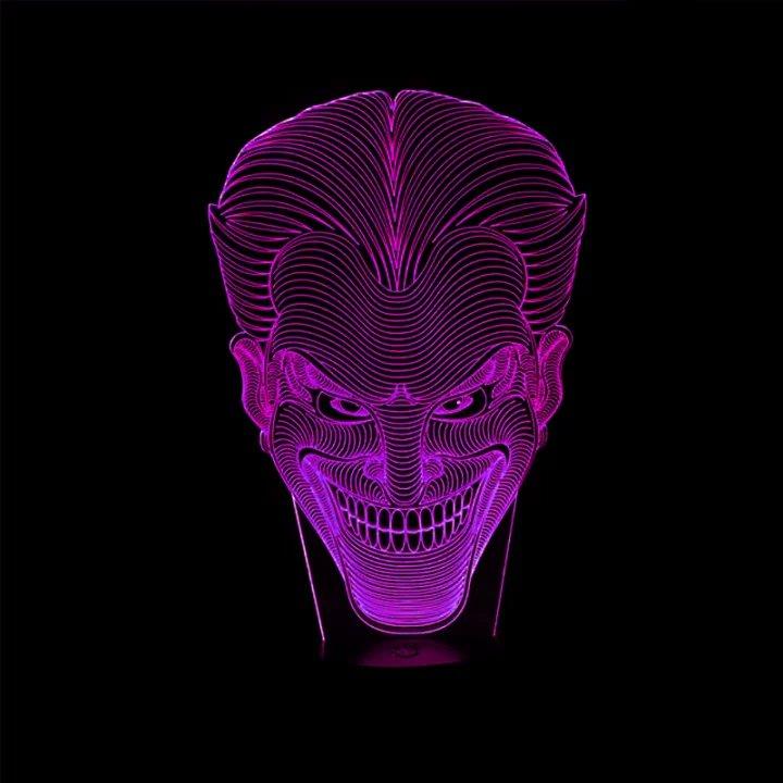 Luzes da Noite presente jack sorriso rosto lâmpada Color : 7 Colors Change