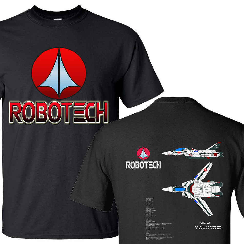 5b17e0315 2019 New 100% Cotton T-Shirts Men VF-1 Valkyrie Robotech Macross Aerospace