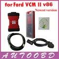 Последней версии VCM II VCM 2 V86 многоязычным VCM2 IDS диагностический инструмент с кейсом бесплатная доставка