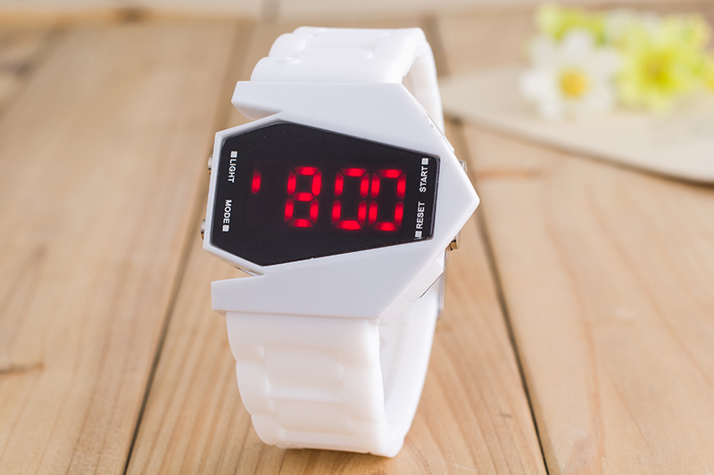 Newest Fashion Outdoor B-2 Stealth Bomber Shape Sports LED Silicone Watch Men Touch Screen Lovers Gift Waterproof Wristwatch