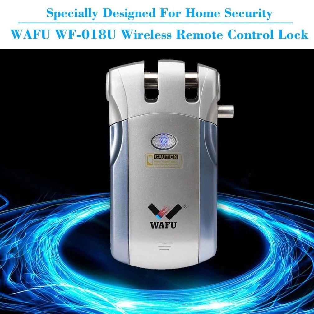 Wafu WF-018 Control remoto inalámbrico cerradura inteligente electrónica cerradura de puerta sin llave 4 controladores remotos perno muerto con alarma incorporada - 3