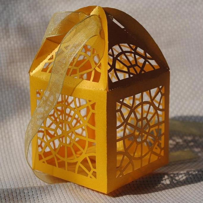 Laser Cut Custom Cupcake Boxes Wholesale Wedding Box Candy Filled