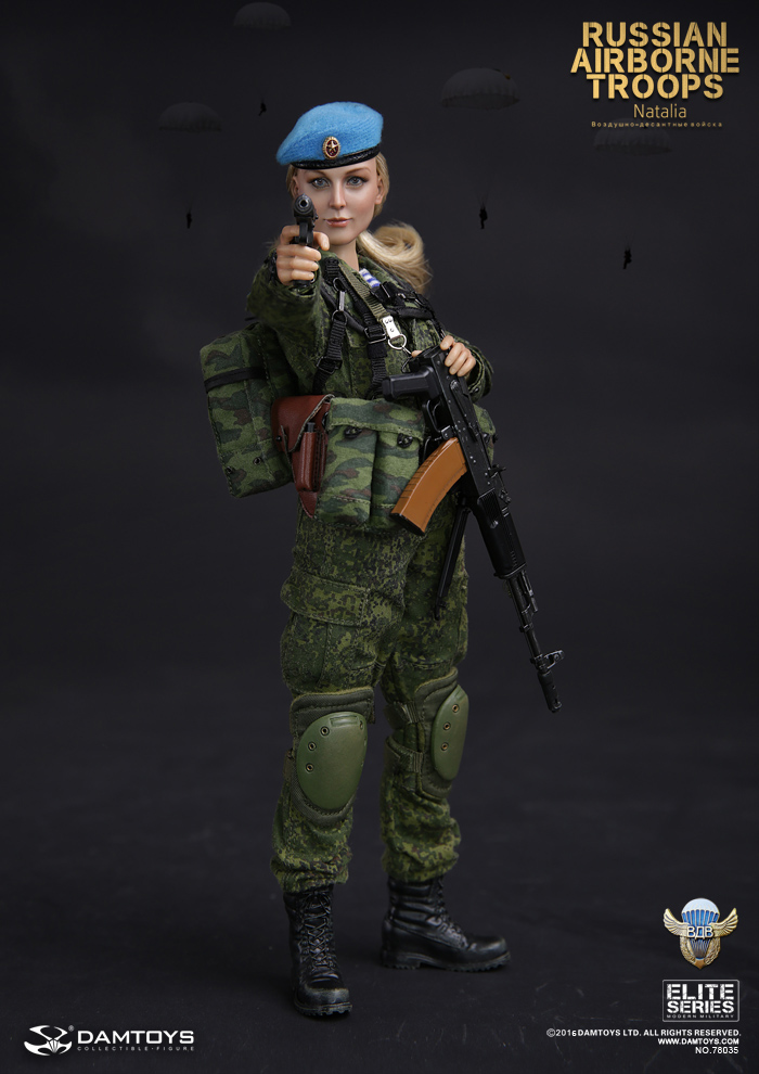 Russian Airborne VDV 1/6 Female Soldier Action Figure Model Set DAM 78035 Natalia фигурка planet of the apes action figure classic gorilla soldier 2 pack 18 см