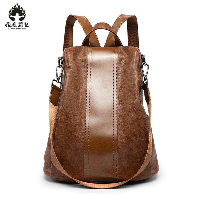 2018 Pu Leather Backpack Women Backpack Fashion Brown Backpacks For Teenage Girls School Bags Famous Brand Women Bag Mochila designer backpack women school bag 2017 backpacks for teenage girls famous brand leather backpack black fashion high quality