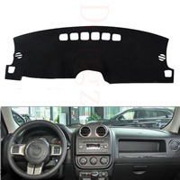 Dongzhen Fit For Jeep Compass Patriot 2010-2015 Car Styling Dashboard Cover Avoid Light Pad Instrument Platform Dash Board Cover