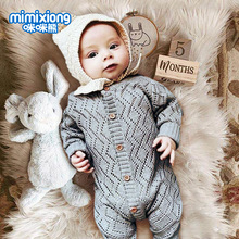 Kaguster Hot Sale Baby Christmas  Tiny Cottons Winte rKnitted Clothes Girl Romper Thanksgiving Fall Winter Solid Outfits