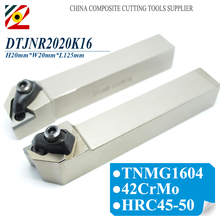 Tools - Machine Tools  - EDGEV DTJNR2020K16 DTJNL2020K16 DTJNR DTJNL CNC Metal Lathe Cutter External Turning Tool Holder For Carbide Insert TNMG 1604 332