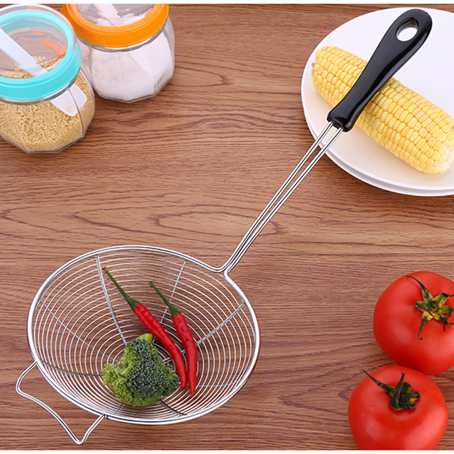 Stainless Steel Hot Pot Filter Spoon Mesh Colander <font><b>Kitchen</b></font> Cooking <font><b>Tools</b></font> Basket Scolapasta Coador <font><b>Inox</b></font> <font><b>Kitchen</b></font> Item 50N6027 image
