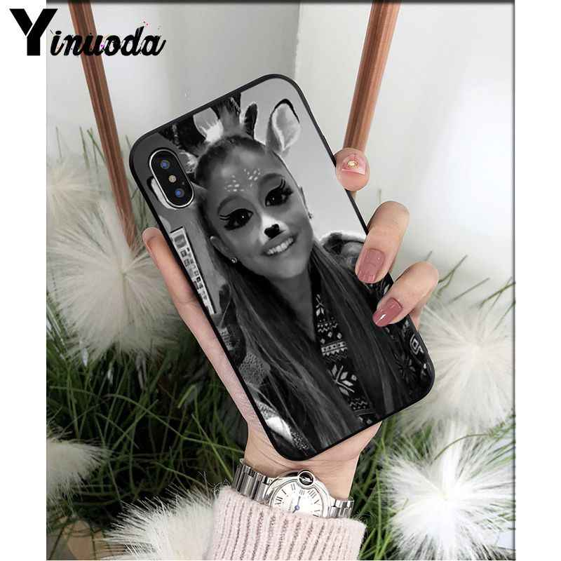 Yinuoda Ariana Grande Novelty Fundas Soft ซิลิโคน TPU ฝาครอบโทรศัพท์สำหรับ Apple iPhone 8 7 6 6S Plus X XS MAX 5 5S SE XR ฝาครอบ
