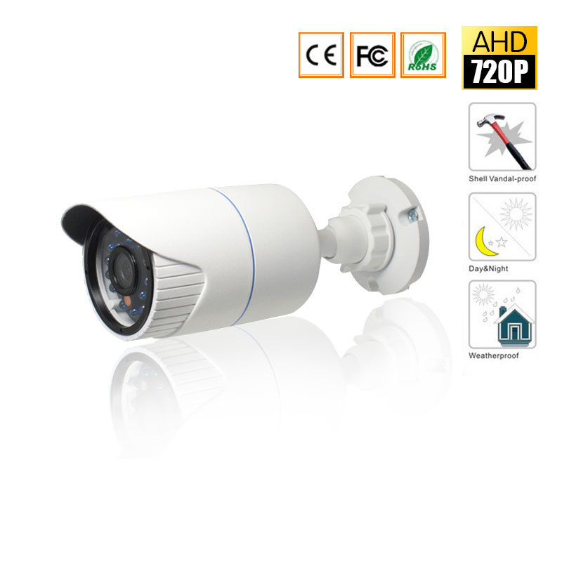 CCTV MIni HD AHD Camera IR-Cut Night Vision AHD Camera Indoor / Outdoor Waterproof 720P 2000TVL 3.6mm lens Security Camera