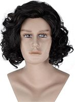 Game Of Thrones Men S Jon Snow Black Wig Cosplay Adult Role Play Head Accessory