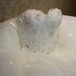 Qq amante 2019 elegante vestido de casamento renda luxo do vintage plus size vestidos bola