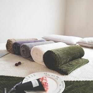 Image 2 - Parkshin franela piña manta avión sofá Oficina adulto uso manta coche cubierta de viaje manta para sofá cama sábana