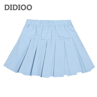 Students Pleated Skirts For Girls School Uniforms Cotton High Waist Princess Dance Skirts 4 6 7