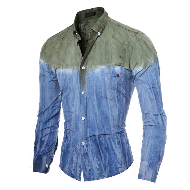 9da2842f3c7 Smart Men Shirt Long Sleeve Funny Dress Shirts Stripes Mens Fashion Casual  Brand Slim Fit Clothes Boss Cotton One Piece 5087