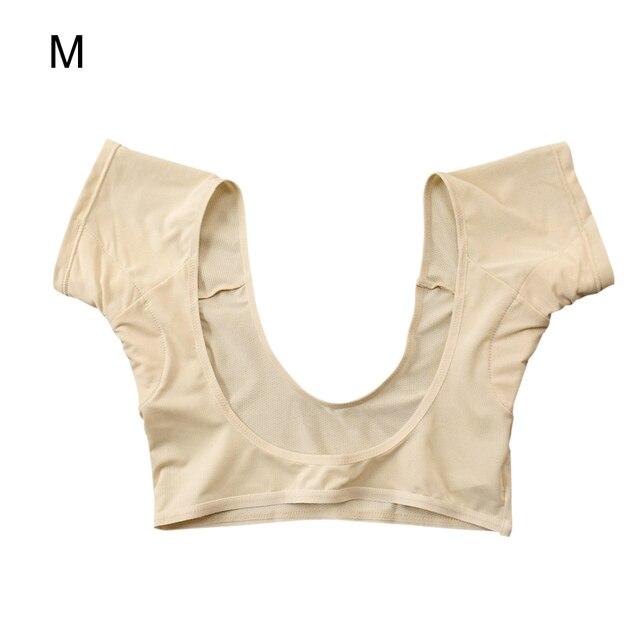 New Washable T-shirt Shape Sweat Pads Reusable Underarm Armpit Sweat Pads Perfume Absorbing Anti M/L Model 1