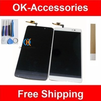 Black White Color High Quality LCD Display Touch Screen For Alcatel Idol 3 OT6045 1PC Lot
