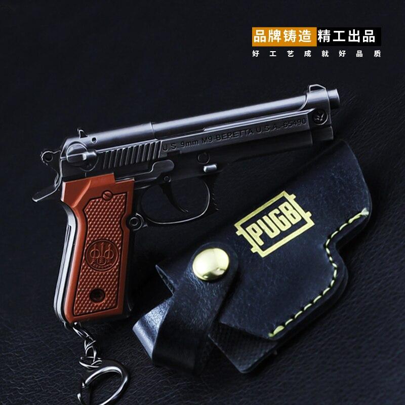 Novelty & Special Use Pubg Game Playerunknowns Battlegrounds Pans P92 Helmet 3d Gun Model Zinc Alloy Keyring Jewelry Chain