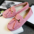 2017 Women Shoes 100% Genuine Leather Women Flat Shoes Handmade Leather Loafers Spring Autumn Casual Driving Shoes Women Flats